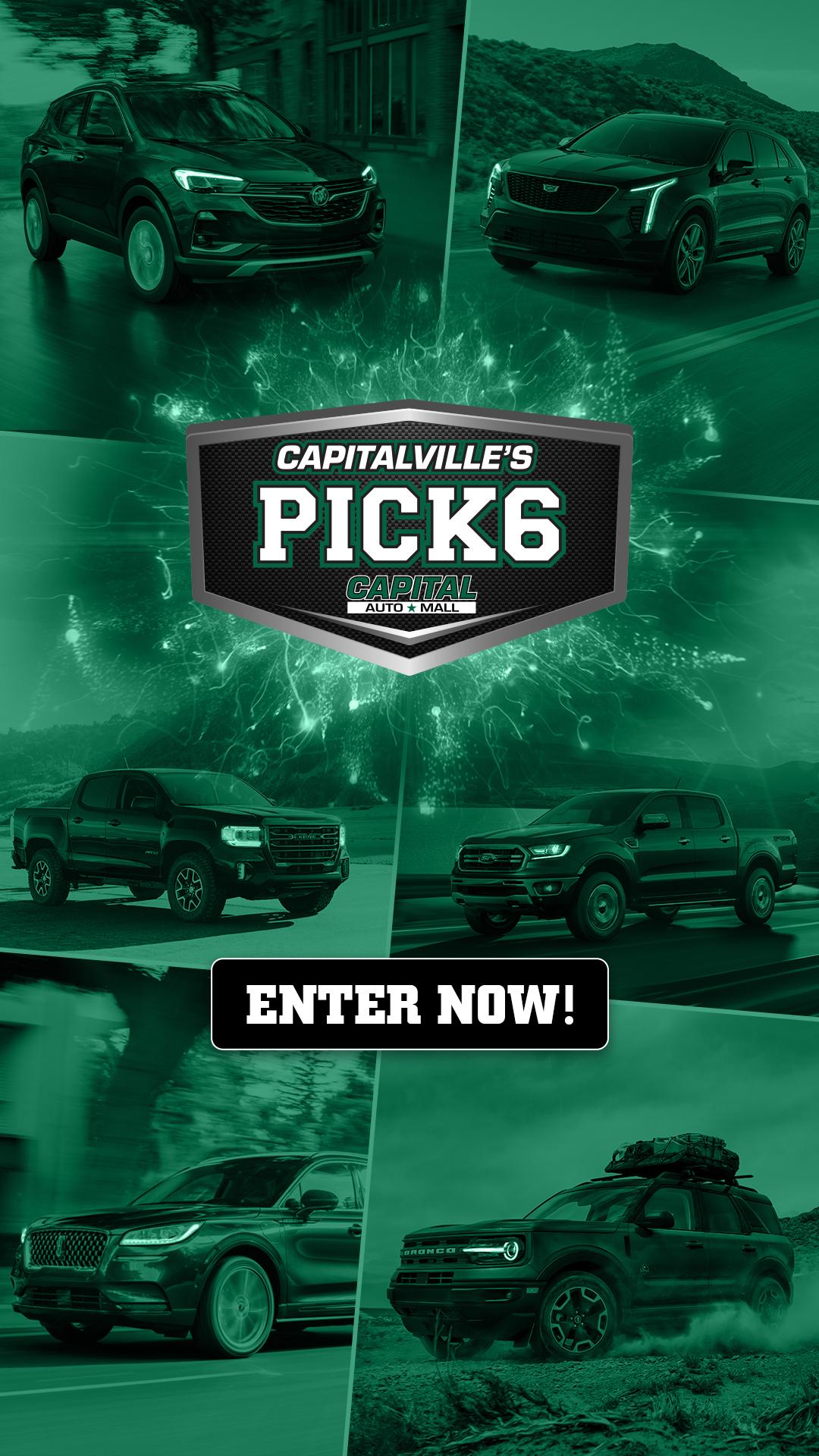 Capitalville's Pick 6 Contest. ENTER NOW!
